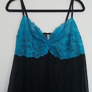 Sheer and lace camisole